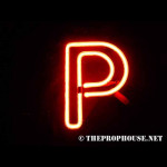 NEON622, NEON, SIGN, LETTER P,P, RED