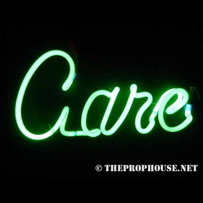 NEON423, NEON, SIGN, CARE, GREEN