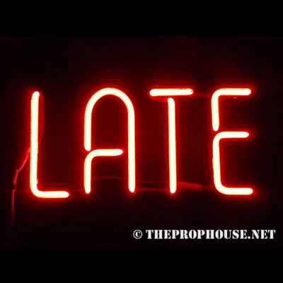 NEON714, NEON, SIGN, LATE, RED