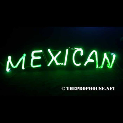 NEON726, NEON, SIGN, MEXICAN, GREEN