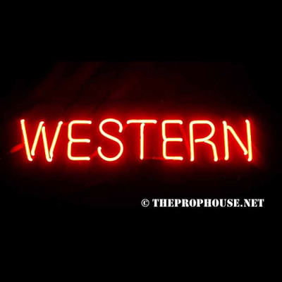 NEON731, NEON, SIGN, WESTERN, RED