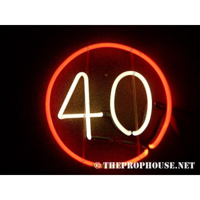 NEON624, Neon sign for bars, white 40, red circle neon for restaurants, neon for nightclubs.