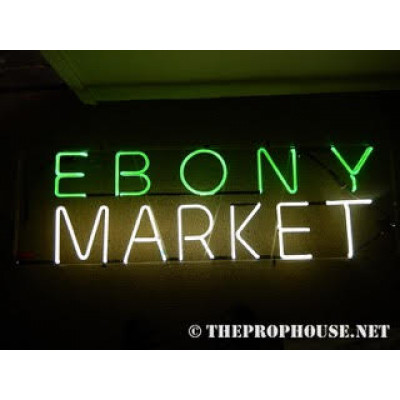 NEON416, Neon Ebony Market Sign, Lighting, Record Stores