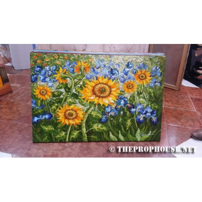 SUNFLOWER PAINTING, Furnishing, Wall Decoration, Art