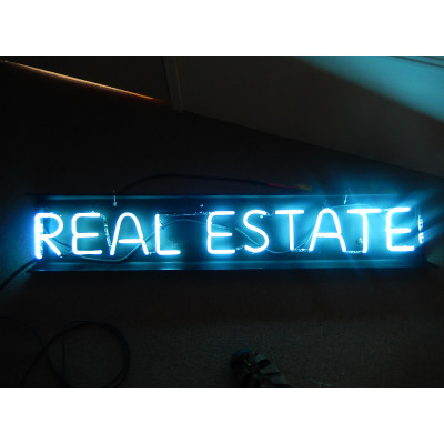 NEON414, NEON, SIGNAGE, LIGHTING, VINTAGE LAMP, SIGNS, LAMPS, LIGHTING, GLASS TUBING,REAL ESTATE, SIGN