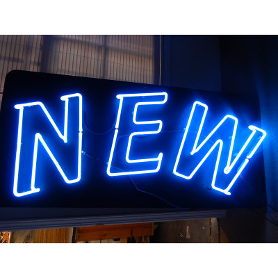 NEON610, NEON, SIGNAGE, LIGHTING, VINTAGE LAMP, SIGNS, LAMPS, LIGHTING, GLASS TUBING, NEW, SIGN, BLUE