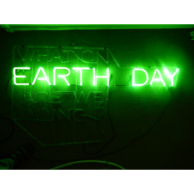 NEON703, NEON, SIGNAGE, LIGHTING, VINTAGE LAMP, SIGNS, LAMPS, LIGHTING, GLASS TUBING, EARTH DAY, SIGN, GREEN
