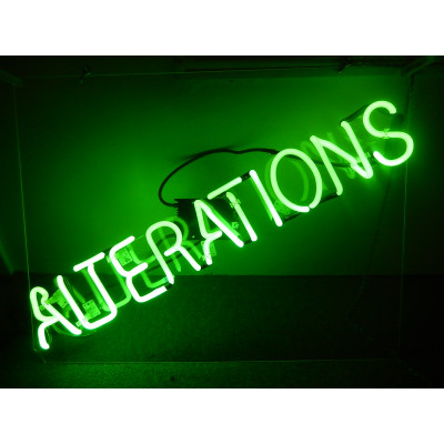 NEON405, NEON, SIGNAGE, LIGHTING, VINTAGE LAMP, SIGNS, LAMPS, LIGHTING, GLASS TUBING,ALTERATIONS, SIGN, GREEN