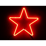 NEON607, NEON, SIGNAGE, LIGHTING, VINTAGE LAMP, SIGNS, LAMPS, LIGHTING, GLASS TUBING, STAR, SIGN, RED
