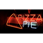 NEON210, NEON, SIGNAGE, LIGHTING, VINTAGE LAMP, SIGNS, LAMPS, LIGHTING, GLASS TUBING, PIZZA PIE SIGN, SIGN, BLUE, WHITE, RED