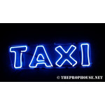 NEON420, NEON, SIGNAGE, LIGHTING, VINTAGE LAMP, SIGNS, LAMPS, LIGHTING, GLASS TUBING,TAXI, SIGN, BLUE