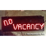 NEON418, NEON, SIGNAGE, LIGHTING, VINTAGE LAMP, SIGNS, LAMPS, LIGHTING, GLASS TUBING,NO VACANCY, SIGN, RED
