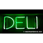 NEON213, NEON, SIGNAGE, LIGHTING, VINTAGE LAMP, SIGNS, LAMPS, LIGHTING, GLASS TUBING,DELI, SIGN, GREEN