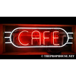 NEON203, NEON, SIGNAGE, LIGHTING, VINTAGE LAMP, SIGNS, LAMPS, LIGHTING, GLASS TUBING,CAFE, SIGN, RED, WHITE