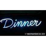 NEON214, NEON, SIGNAGE, LIGHTING, VINTAGE LAMP, SIGNS, LAMPS, LIGHTING, GLASS TUBING,DINNER,SIGN, BLUE