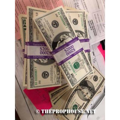 FAKEMONEY5, FAKEMONEY 5, FAKE MONEY 5, FAKE MONEY, STAGE MONEY, THEATRICAL MONEY, $20'S, PACKS OF $20'S