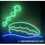 NEON216, NEON, GREEN, BLUE, RED, CLAM, CLAM NEON SIGN, NEON SIGN, CLAIM NEON, CLAM,  MARINE NEON, MARINE