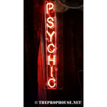 NEON403, NEON, SIGNAGE, LIGHTING, VINTAGE LAMP, SIGNS, LAMPS, LIGHTING, GLASS TUBING,PSYCHIC SIGN, RED