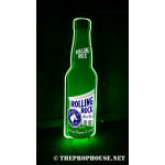 NEON302, NEON, SIGNAGE, LIGHTING, VINTAGE LAMP, SIGNS, LAMPS, LIGHTING, GLASS TUBING,ROLLLING ROCK, BOTTLE, GREEN, WHITE
