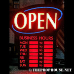NEON511, NON-NEON, BACKLIT, STORE OPEN HOURS, STORE HOURS, ILLUMINATED STORE HOURS SIGN