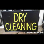 NEON421, NON-NEON, YELLOW, DRY CLEANING, STORE SIGN