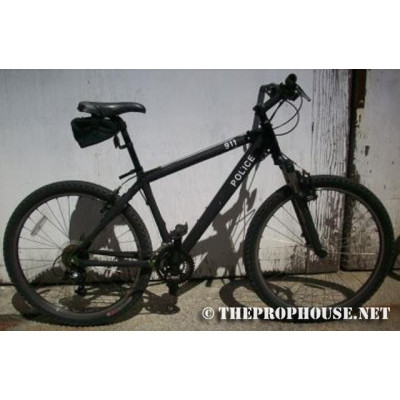 BICYCLE, POLICE, SINGLE, BLACK, EQUIPPED