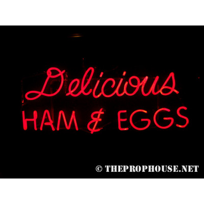NEON212, NEON, SIGNAGE, LIGHTING, VINTAGE LAMP, SIGNS, LAMPS, LIGHTING, GLASS TUBING, DINER NEON, HAM AND EGGS NEON, NEON 13, RESTAURANT, FOOD, BREAKFAST