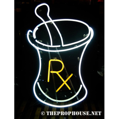 NEON401, NEON, SIGNAGE, LIGHTING, VINTAGE LAMP, SIGNS, LAMPS, LIGHTING, GLASS TUBING, RX, MEDICAL,