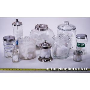 Glass Cotton Ball Jars