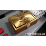 JEWELRYBOX, BOX, MARINE CORPS, MEDALS, MILITARY BOX, BRASS AND WOOD BOX